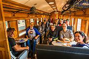 On the Taieri Gorge Railway, Dunedin, Otago, South Island, New Zealand with REI Adventures