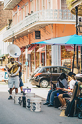 THEMENBILD - ein Straßenkuenstler im French Quarter, aufgenommen am 02.08.2019, New Orleans, Vereinigte Staaten von Amerika // a street artist at the French Quarter, New Orleans, United States of America on 2019/08/02. EXPA Pictures © 2019, PhotoCredit: EXPA/ Florian Schroetter