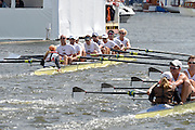 Henley, GREAT BRITAIN. Grand  Challenge Cup. California Rowing Club, beat, Brown University   and Celebrate  winning the final,  at 2012 Henley Royal Regatta...Sunday  16:36:45  01/07/2012. [Mandatory Credit, Peter Spurrier/Intersport-images]...Rowing Courses, Henley Reach, Henley, ENGLAND . HRR.