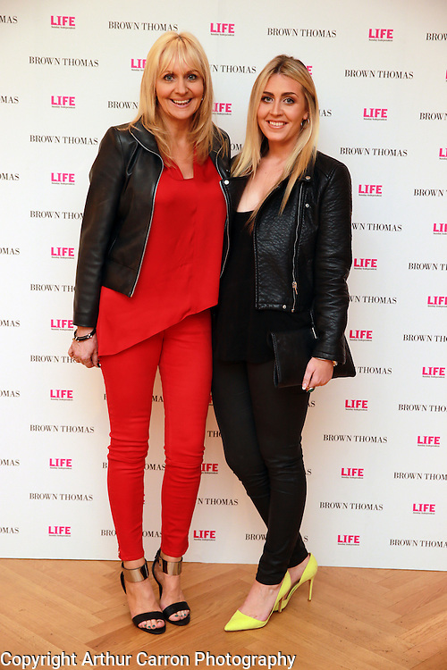 14/5/14 Miriam O'Callaghan with daughter Georgia at the 10th Anniversary celebrations of Life Magazine at Brown Thomas in Dublin. Picture:Arthur Carron