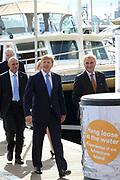 Koning Willem-Alexander opent 30e HISWA te water en het HISWA Nautisch Centrum in de nieuwe jachthaven Amsterdam Marina aan het IJ.HISWA te water richt zich op de watersporter in de meest brede zin van het woord. Zo kunnen bezoekers onder andere nieuwe zeiljachten, motorjachten, en sportboten bekijken.<br /> <br /> King Willem-Alexander opens 30th HISWA Amsterdam in-water and the Nautical Centre in the new marina at the Amsterdam Marina IJ.HISWA to water focuses on water sports in the broadest sense of the word. Visitors can include new sailing yachts, motor yachts and sport boats view.<br /> <br /> Op de foto:  Koning Willem Alexander loopt over de botenshow / King Williem Alexander walks on the boat show