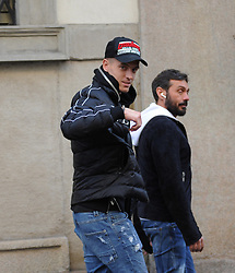 Milan, Piatek and girlfriend walking in the center - The striker of Milan and of the national team of Poland, KRZYSZTOF PIATEK surprised on the streets of the center with his girlfriend PAULINA PROCYK, lawyer and fashion blogger 5 years older than him. Here they are in the afternoon walking in Via Montenapoleone, trying to hide among the people, because Piatek does not love to expose himself in public with the girlfriend of which he is very jealous.