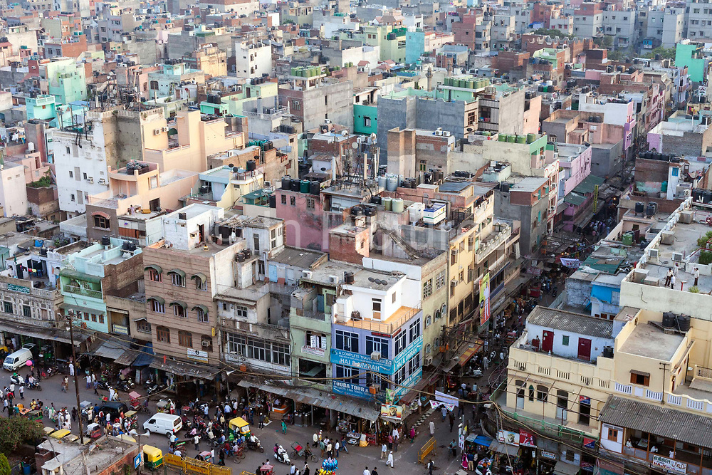 An overview of Delhi from the Jama Masjid, Old Delhi, India