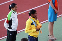 Cruz Da Silva recebe a medalha de prata nos 10mil metros válida pelos jogos Pan-Americanos de Guadalajara 2011. FOTO: Jefferson Bernardes/Preview.com