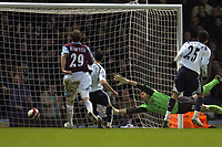 Photo: Olly Greenwood.<br />West Ham United v Tottenham Hotspur. The Barclays Premiership. 04/03/2007. Spurs Paul Stalteri scores