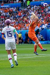 07-07-2019 FRA: Final USA - Netherlands, Lyon<br /> FIFA Women's World Cup France final match between United States of America and Netherlands at Parc Olympique Lyonnais. USA won 2-0 / Stefanie van der Gragt #3 of the Netherlands