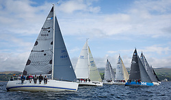 Largs Regatta Week 2017 <br /> <br /> Day 2, RC35 Class Start with IRL1666, Carmen II, Jeffrey/Scutt, CCC/HSC, First 36.7<br /> <br /> Picture Marc Turner