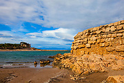 Remains of the harbour of Empuries or Emporion or Ampurias