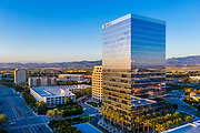 Irvine Office Buildings at the Spectrum During  Sunset