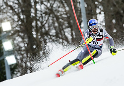 """Jean-Baptiste Grange (FRA) competes during 1st Run of FIS Alpine Ski World Cup 2017/18 Men's Slalom race named """"Snow Queen Trophy 2018"""", on January 4, 2018 in Course Crveni Spust at Sljeme hill, Zagreb, Croatia. Photo by Vid Ponikvar / Sportida"""
