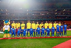 Equipe brasileira para o amistoso contra África do Sul, no estádio Soccer City, em Joanesburgo. FOTO: Jefferson Bernardes/ Agência Preview