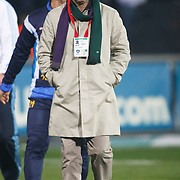 Bucaspor's coach Samet AYBABA during their Turkish superleague soccer match Besiktas between Bucaspor at BJK Inonu Stadium in Istanbul Turkey on Friday, 21 January 2011. Photo by TURKPIX