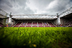 Tynecastle Stadium, home of Hearts FC.<br /> ©Michael Schofield.