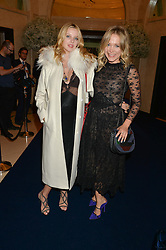 Left to right, GRETA BELLAMACINA and POPPY JAMIE at the De Beers Moments in Light - a celebration of telented women in association with Women For Women International featuring photographs by Mary McCartney held at Claridge's, Brook Street, London on 18th September 2015.