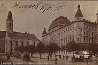 Zagreb (Croatie) : Preradovićev trg. <br /> <br /> Impresum[S. l. : S. n., 1910].<br /> Materijalni opis1 razglednica : tisak ; 8,5 x 13,5 cm.<br /> Vrstavizualna građa • razglednice<br /> ZbirkaZbirka razglednica • Grafička zbirka NSK<br /> ProjektPozdrav iz Zagreba • Pozdrav iz Hrvatske<br /> Formatimage/jpeg<br /> PredmetZagreb –– Trg Petra Preradovića<br /> SignaturaRZG-PRER-9<br /> Obuhvat(vremenski)20. stoljeće<br /> NapomenaRazglednica je putovala 1910. godine.<br /> PravaJavno dobro<br /> Identifikatori000953967<br /> NBN.HRNBN: urn:nbn:hr:238:845233 <br /> <br /> Izvor: Digitalne zbirke Nacionalne i sveučilišne knjižnice u Zagrebu