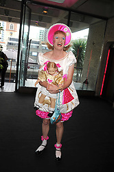 GRAYSON PERRY at the opening of 'The House of Viktor & Rolf' an exhibtion of designs by Viktor & Rolf held at The Barbican Art Gallery, Silk Sytreet, London on 17th June 2008.<br /><br />NON EXCLUSIVE - WORLD RIGHTS
