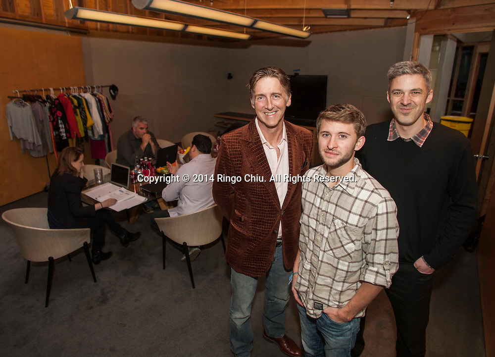 Cameron Manwaring, center, Tim Staples, right, and Nick Reed, left, founders of a new ad agency called Contagious.<br />  (Photo by Ringo Chiu/PHOTOFORMULA.com)