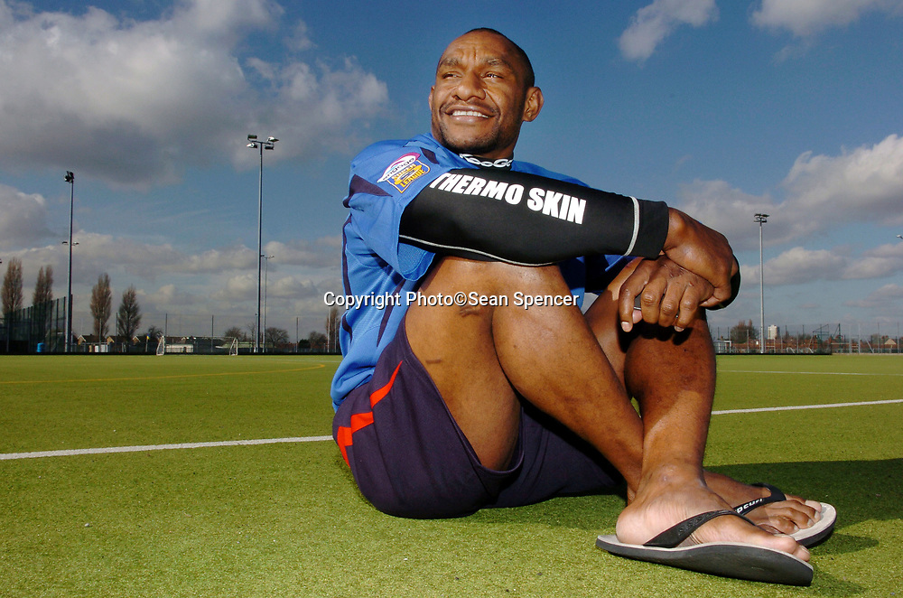 8 March 2007: Stanley Gene who plays rugby league for Hull Kingston Rovers.<br /> Attention: Roger, Daily Mail sport pics<br /> see feature - Chris Wheeler<br /> Picture:Sean Spencer/Hull News & Pictures 01482 210267/07976 433960<br /> High resolution picture library at http://www.hullnews.co.uk<br /> ©Sean Spencer/Hull News & Pictures Ltd