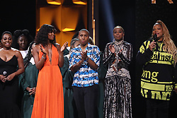 Naomi Campbell, Lena Waithe, Mary J on August 26, 2018. Blige and Queen Latifah at 'Black Girls Rock' in Newark New Jersey on August 26, 2018.