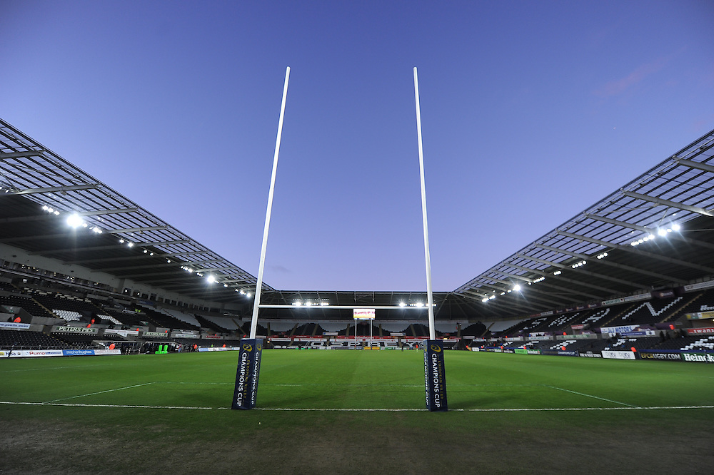 A general view of Liberty Stadium, home of Ospreys<br /> <br /> Photographer Craig Thomas/CameraSport<br /> <br /> Rugby Union - European Rugby Champions Cup - Pool 5 - Ospreys v Northampton Saints - Sunday 18th January 2015 - Liberty Stadium - Swansea<br /> <br /> © CameraSport - 43 Linden Ave. Countesthorpe. Leicester. England. LE8 5PG - Tel: +44 (0) 116 277 4147 - admin@camerasport.com - www.camerasport.com