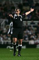 Photo: Andrew Unwin.<br />Newcastle United v Southampton. The FA Cup. 18/02/2006.<br />The referee, Mr M Atkinson.