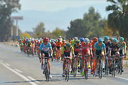 October 14, 2017 - Izmir, Turkey - Diego Ulissi (Left) from UAE Team Emirates in the lead of the p.eloton during the fifth stage - the 166 km Vestel Selcuk to Izmir, the second last stage of the 53rd Presidential Cycling Tour of Turkey 2017..On Saturday, 14 October 2017, in Izmir, Turkey. (Credit Image: © Artur Widak/NurPhoto via ZUMA Press)