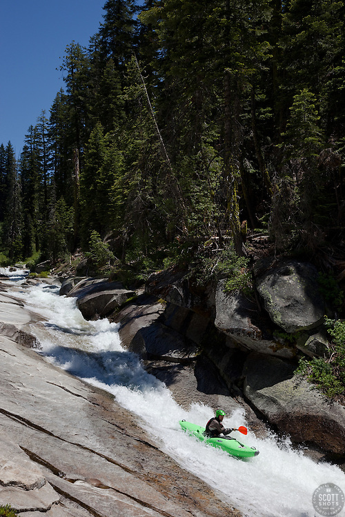 """""""Kayaker on Silver Creek 7"""" - This kayaker was photographed on Silver Creek - South Fork, near Icehouse Reservoir, CA."""