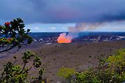 Halemaumau Crater, Erupting, Hawaii Volcanoes National Park, Island of Hawaii
