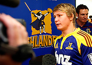 Highlanders player Robbie Robinson. Super 14 rugby union. 2010 Rebel Sport Super 14 New Zealand squads naming press conference. Auckland, New Zealand. Wednesday 11 November 2009. © Copyright Photo: www.photosport.nz