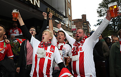 FC Koln fans outside The White Swan pub prior to the Europa League match at the Emirates Stadium, London.