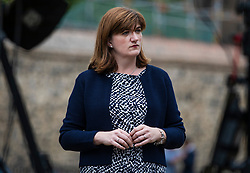 © Licensed to London News Pictures. 10/07/2018. London, UK. Former Conservative Cabinet Minister and Remain supporter Nicky Morgan MP gives an interview outside Parliament. Photo credit: Rob Pinney/LNP