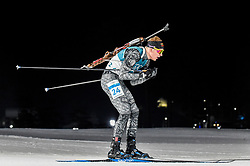 February 18, 2018 - Pyeongchang, Gangwon, South Korea - Tomas Kaukenas of Lithuania  competing in  15 km mass start biathlon at Alpensia Biathlon Centre, Pyeongchang,  South Korea on February 18, 2018. (Credit Image: © Ulrik Pedersen/NurPhoto via ZUMA Press)