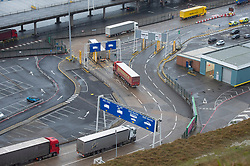 © Licensed to London News Pictures. 01/02/2020. Dover, UK. Cars and good vehicles leave Dover Port on the first day after the United Kingdom left the European Union. Photo credit: Ray Tang/LNP