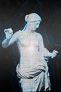 Digitally enhanced image of a statue of Venus of Arles