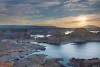 Sunrise over Padre Bay and Lake Powell from Alstrom Point, Glen Canyon National Recreation Area Utah