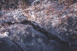 THEMENBILD - die im Winter für Besucher geschlossene Sigmund Thun Klamm, aufgenommen am 23. Januar 2019 in Kaprun, Oesterreich // the Sigmund Thun Klamm closed for visitors in the winter months in Kaprun, Austria on 2019/01/23. EXPA Pictures © 2019, PhotoCredit: EXPA/ JFK
