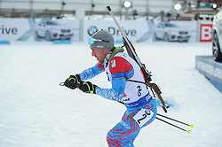 February 8, 2019 - Calgary, Alberta, Canada - Garanichev Evgeniy is leaving a stadium after first shooting during Men's Relay of 7 BMW IBU World Cup Biathlon 2018-2019. Canmore, Canada, 08.02.2019 (Credit Image: © Russian Look via ZUMA Wire)