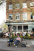 The Crown. A popular pub for beer and food in Islington, London.