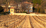 The main winery building at Chateau Saint Cosme, Gigondas, Vaucluse, Rhone, Provence, France