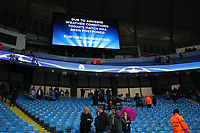 Football - 2016 / 2017 Champions League - Group C : Manchester City v Borussia Monchengladbach - The Ethiad Stadium <br /> <br /> Rain before the match between Manchester City and Borussia Monchengladbach at The Ethiad Stadium causes the game to be cancelled. <br /> <br /> COLORSPORT/LYNNE CAMERON