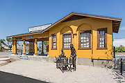 Historic Pacific Electric Train Depot in Bellflower California