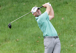 June 24, 2018 - Cromwell, CT, U.S. - CROMWELL, CT - JUNE 24:  Ryan Armour of the United States takes a tee shot during the Final Round of the Travelers Championship on June 24, 2018 at TPC River Highlands in Cromwell, CT (Photo by Joshua Sarner/Icon Sportswire) (Credit Image: © Joshua Sarner/Icon SMI via ZUMA Press)
