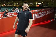 Ken Owens of Wales arrives for the Wales rugby team captains run at the Principality Stadium  in Cardiff , South Wales on Friday 2nd February 2018.  the team are preparing for their opening Natwest 6 Nations 2018 championship match against Scotland tomorrow.   pic by Andrew Orchard