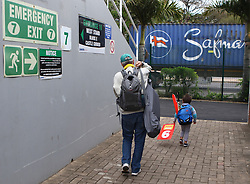 Fans leave during day four of the first test match between South Africa and New Zealand held at the Kingsmead stadium in Durban, KwaZulu Natal, South Africa on the 22nd August 2016<br /> <br /> Photo by:   Anesh Debiky / Real Time Images