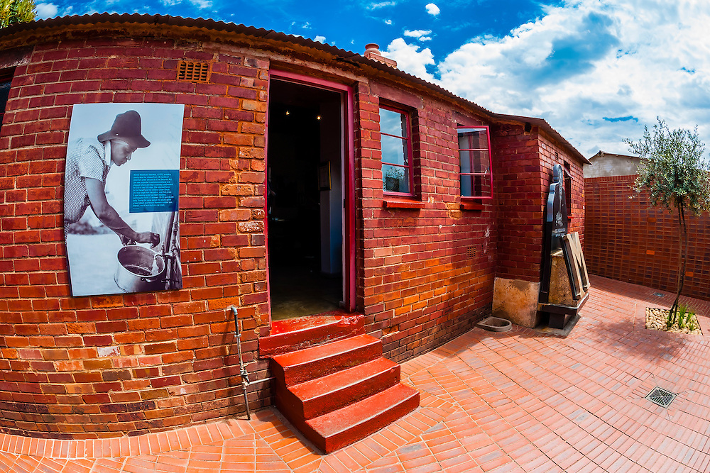 The Mandela Family Museum, Soweto (South Western townships), Johannesburg, South Africa. The Mandela Family House is where President Mandela and Winnie and their two daughters lived in the 1960s before Mandela went to prison.