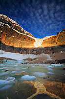 Angel Glacier and Cavell Pond, Jasper National Park, Alberta, Canada in the Canadian Rocky Mountains