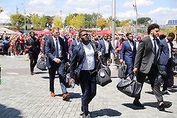 Alabama Crimson Tide team walk prior to the Chick-fil-A Kickoff Game at the Mercedes-Benz Stadium, Saturday, August 31, 2019, in Atlanta. Alabama won 42-3. (Brad Budd via Abell Images for Chick-fil-A Kickoff)