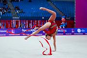Demirors Derya is a Turkey athlete of rhythmic gymnastics born in Konak in 2002.
