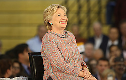 Hillary Clinton listens to former Vice President Al Gore speak at Miami Dade College in Kendall with f The two discussed climate change as well as the upcoming election. Miami, FL, USA, October 11, 2016. Photo by Mike Stocker/Sun-Sentinel/TNS/ABACAPRESS.COM