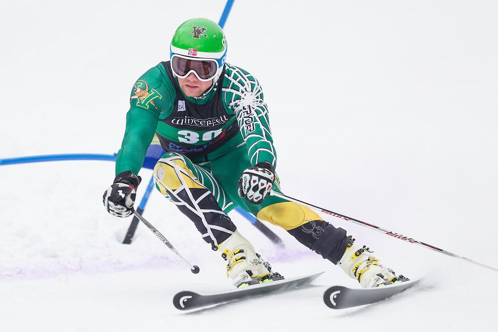Jonathan Nordbotten of the University of Vermont, skis during the second run of the men's giant slalom at Jiminy Peak on February 15, 2014 in Hancock, MA. (Dustin Satloff/EISA)